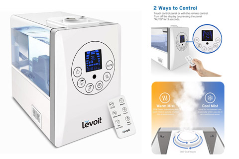 Levoit Warm and Cool Mist Humidifiers Large Room