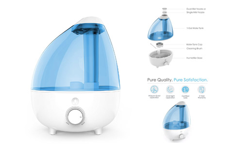 MistAire XL Ultrasonic Cool Mist Humidifier Large Room