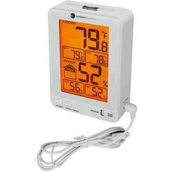 Ambient Weather WS-2063-W-P Indoor Temperature & Humidity Monitor
