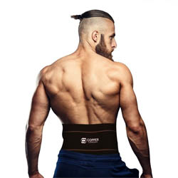 Copper Compression Lower Back Support Recovery Brace